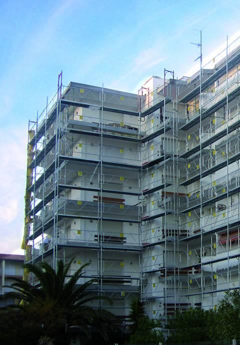 Montaje de estructuras verticales
